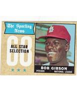 #378 Bob Gibson AS 1968 Topps Main Set - $20.75