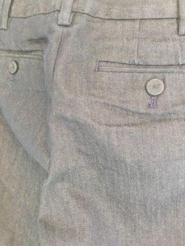 Ann Taylor Loft Trouser Blue Jean Capri Cuffed Dress Pants Size 4 Work Casual