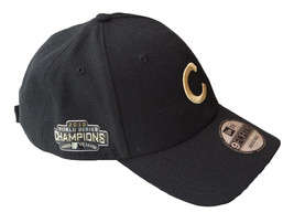 NEW ERA Chicago Cubs World Series Champions Adjustable Cap Black Gold Ad... - $642,51 MXN