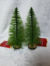 """Holiday Time 5"""" Green Bottle Brush Artificial Mini Pine Christmas Tree 2... - $9.85"""