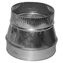 DEFLECTO RED08626 Galvanized Round Reducer (8-6, 26 Gauge) - $22.76
