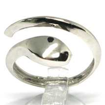 White Gold Ring 750 18K , Snake, Cove, Made in Italy, Open image 1
