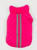 Dog Jacket Pink Gray Reflective Stripe Size Small - $7.69