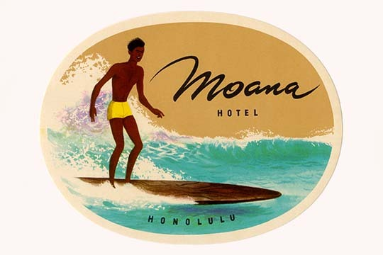 Moana Hotel Luggage Label - Art Print - $19.99 - $179.99