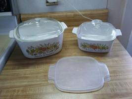 Vintage Corningware casserole dishes - $34.60