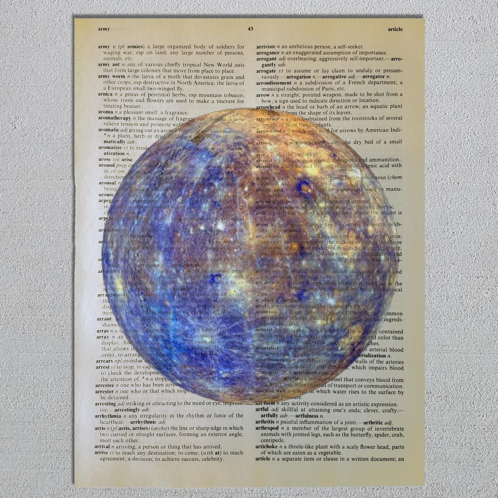 Choose a Science Biology Chemistry Physics Astronomy Dictionary Art Print