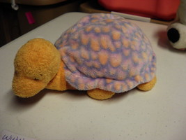 Ty Pluffies Pluffy Cruiser Plush Orange Purple Turtle Baby - $5.54