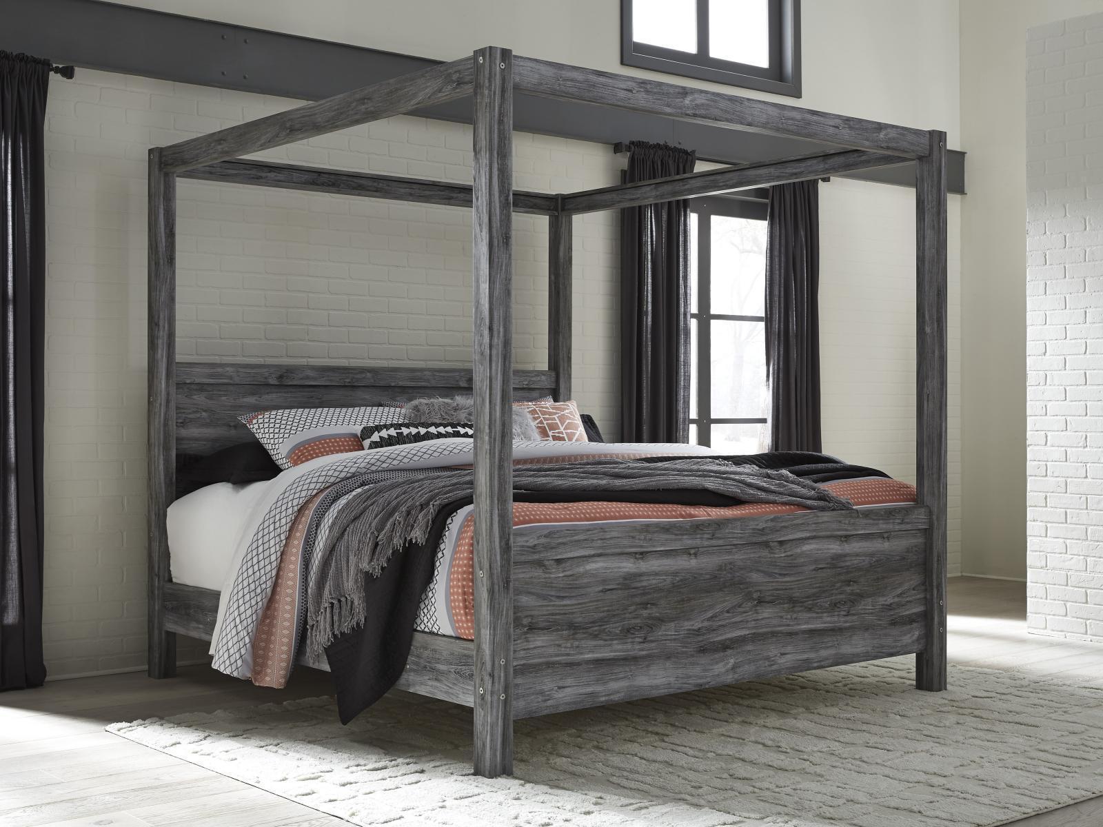 ashley baystorm b221 king size canopy bedroom set 6pcs in