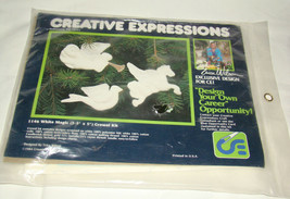 CREATIVE EXPRESSIONS Erica Wilson CHRISTMAS WHITE MAGIC Crewel Kit Ornam... - $9.02