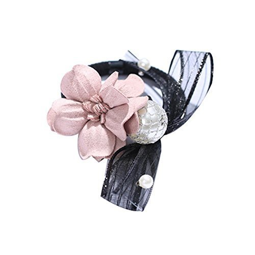 3 Pieces Bowknot and Flora Ponytail Holders Hair Elastics Sweet Style Hairbands