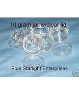 12 - 10 gram jar sample pot seed bead paint craft #110N BPA free - $10.75