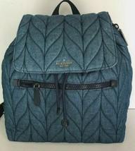 New Kate Spade New York Ellie Large Flap Nylon Backpack handbag Denim - $129.00