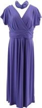 IMAN Boho Chic Maxi Dress Head Wrap Deep Purple S Petite NEW 692-183 - $42.55