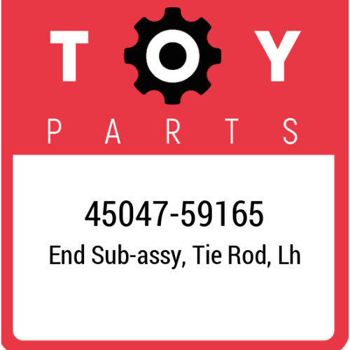 45047-59165 Toyota End Set Tie Rod, New Genuine OEM Part