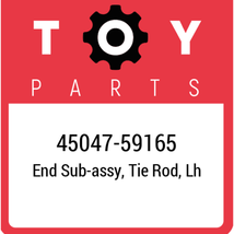 45047-59165 Toyota End Set Tie Rod, New Genuine OEM Part - $34.07
