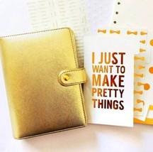 A6 Gold Silver Ring Bound Binder Planner, Monthly Weekly Organizer Kit +... - $49.00