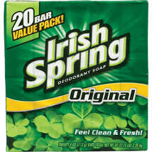 20 Bar Irish Spring Aloe Deodorant Bar Soap 3.75 Oz Great Invigorating S... - $21.00