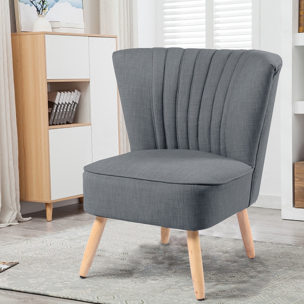 Classic style Home Office Cocktail Wingback Linen Chair European Style - $135.00