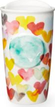 Starbucks 2015 Watercolor Hearts Double Wall Traveler Tumbler Brand New - $61.99