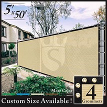 Royal Shade 5' x 50' Beige Fence Privacy Screen Windscreen Cover Netting... - $66.95