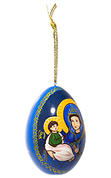 Madonna and Child Ornament - 2.5""