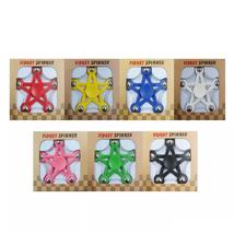 Five Star Fidget Spinner EDC Toy Relieves Stress - 1x w/Random Color and Design image 2