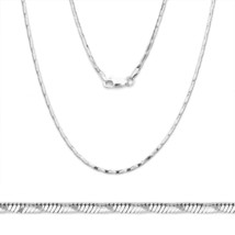 925 Silver Herringbone Link Chain Snake Rope Italian Necklace 1.4mm - $43.05+