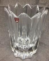 Orrefors Sweden Clear Crystal Vase Signed - $36.38