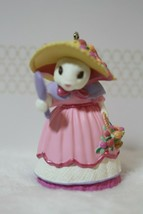 Hallmark Keepsake 1994 Springtime Bonnets Bunny Pink Easter Ornament Dec... - $19.79