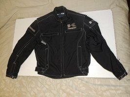 JOE ROCKET MOTORCYCLE RACING BIKER PADDED ARMORED JACKET KAWASAKI Small - $49.98