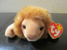 Ty Beanie Baby Roary the Lion 2 Tag Errors USED - $8.90