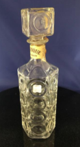 ANTIQUE Bourbon Vintage Glass EMPTY Collectible Decanter Removable Top - $24.98