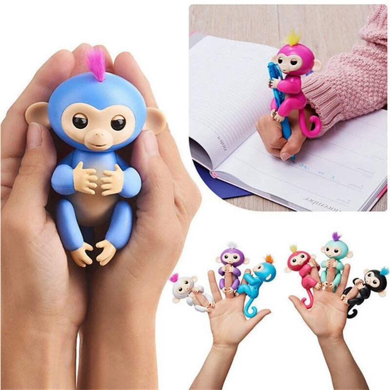 Finger Monkey Cute Toy Baby Electronic Interactive Toy Robot Pet Kids Gift for sale  USA