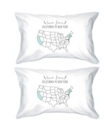 Love From States White Personalized Pillow Cases Customized Gifts - $35.99