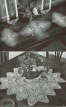 Pineapple Doilies Tablecloth Runner Luncheon Buffet Armchair Crochet Patterns  image 9