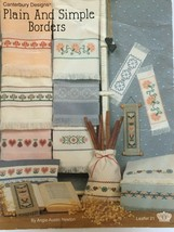 Canterbury Designs Plain and Simple Borders Leaflet 21 Counted Cross Stitch - $4.00