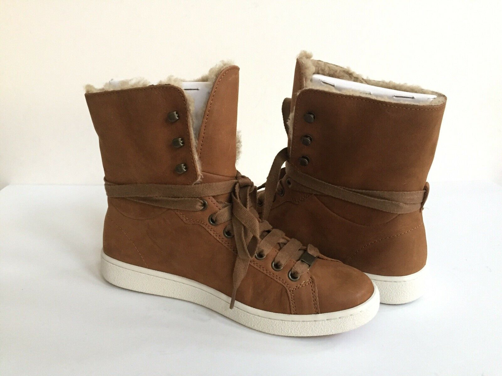UGG STARLYN CHESTNUT ANKLE SNEAKERS LEATHER SHOE US 9.5 / EU 40.5 / UK 7.5 NIB image 2