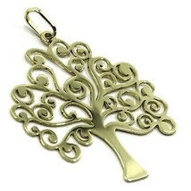 9K YELLOW GOLD PENDANT, FLAT TREE OF LIFE, LENGTH 26 MM, 1.02 INCHES image 2