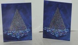 Painted Trees Peacocks Frameable 5X7 Christmas Card 3 Designs Package 6 image 3