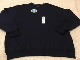 Men's Soft Crew Neck Sweatshirt, Blue, Fruit Of The Loom Size 2XL - $17.98