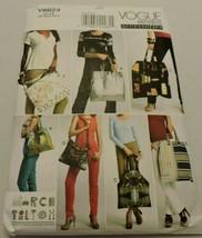 Vogue Sewing Pattern V8823 Fashion Accessories Handbag Purse Tote Bag Un... - $9.99