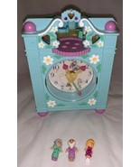 Vintage Polly Pocket Bluebird 1991 Funtime Clock Playset 3 Dolls Works! - $39.59