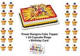 Power Rangers Morphin Time Cake Topper PLUS 24 Matching Cupcake Rings Pl... - $21.73