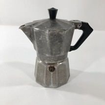 Vintage Made In Italy Italian Aluminum Stovetop Espresso Maker Pot - $9.89