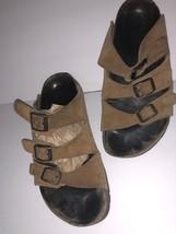Birkenstock Sandals * Florida * 3 Strap Brown Leather Betula Sz 38 Womens Us 7 - $53.46