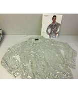 Men's Silver Sequin Shirt  - $20.10