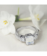 Womens 1.75 Ct EMERALD CUT Fashion Anniversary RING White Gold Plated Si... - $24.95