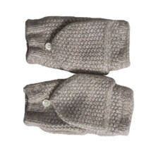 UGG CASHMERE FLIP OATMEAL HEATHER KNIT WOMEN'S MITTENS ONE SIZE WITH TAG... - $60.38
