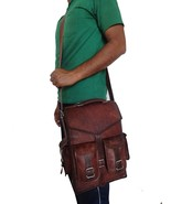 "Mens Real Leather 16"" Laptop Backpack Large Travel Hiking Rucksack Lapto... - $45.97+"