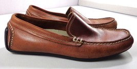 Rockport Mens Driving Moccasins Brown Leather Slip On Shoes Size 8 M - $59.35